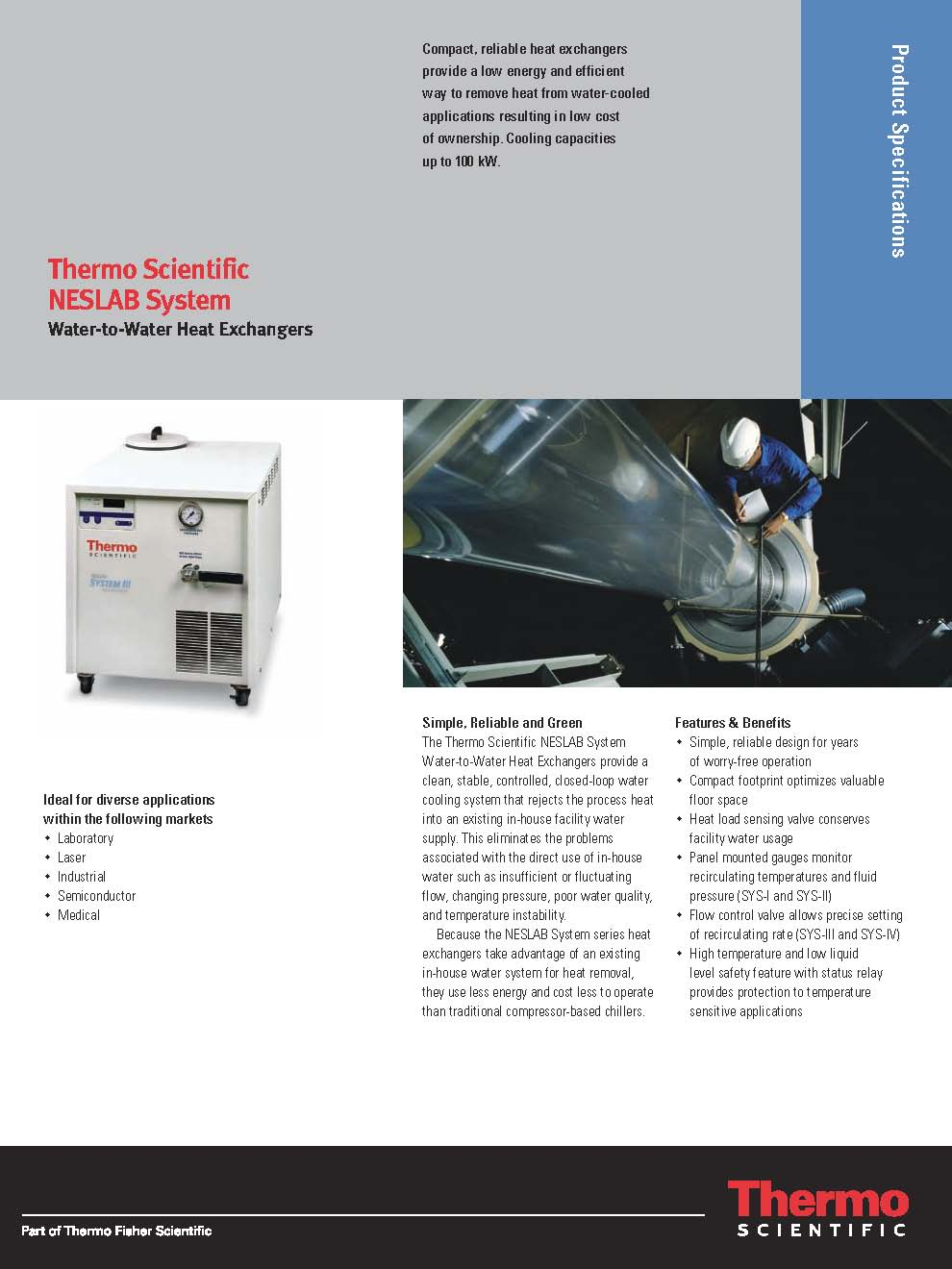 Thermo Scientific NESLAB - Water to Water Heat Exchangers Brochure